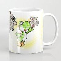 yoshi Mugs featuring Yoshi Wonderland !  by Art & Be