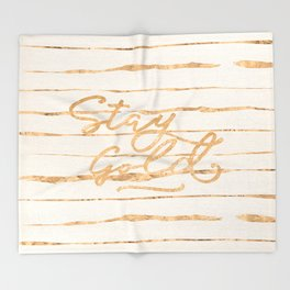 Stay Gold Throw Blanket