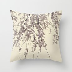 Raintree 2 Lavender pink flower blossoms Throw Pillow