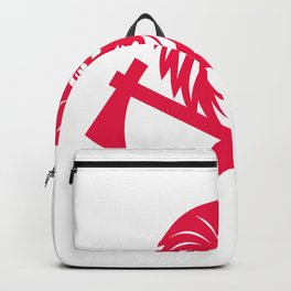 Native American Crossed Tomahawk Mascot Backpack