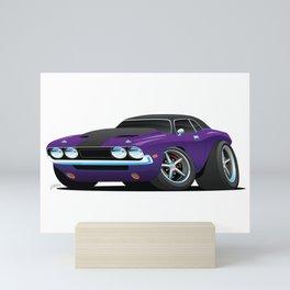 Classic Muscle Car Cartoon Mini Art Print