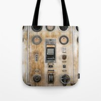 nemo Tote Bags featuring Captain Nemo by inogitna (Antigoni Chryssanthopoulou)