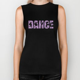 Dance in Light Purple with Dancer Cutouts Biker Tank
