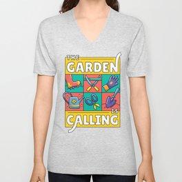 The Garden Is Calling Unisex V-Neck