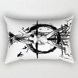 Black Spring Rectangular Pillow