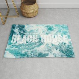 Beach House Ocean Sea Waves Rug