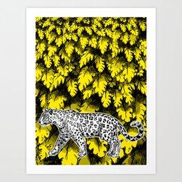 Taking a stroll in the jungle Art Print