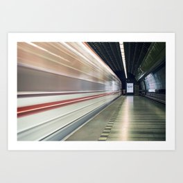 Prague Metro Art Print