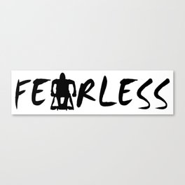 Fearless Adaptive Sports Design Canvas Print