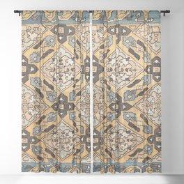 Surahani Baku Southeast Caucasus Silk Embroidery Print Sheer Curtain
