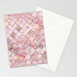 Moroccan Pattern in Marble and quartz crystal Texture Stationery Cards