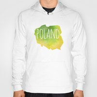 poland Hoodies featuring Poland by Stephanie Wittenburg