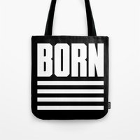 logo Tote Bags featuring Logo by Born Motor Co.