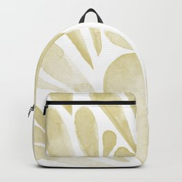 Watercolor artistic drops - yellow Backpack