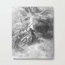 Gustave Doré - La Grande Bible de Tours (1866) 080 Death of Absalom (2 Samuel 18:9) Metal Print