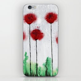Red Wildflowers iPhone Skin