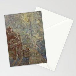 Vincent Van Gogh - Night after Millet Stationery Cards