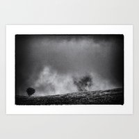 one tree hill Art Prints featuring One tree hill by Mark Nelson