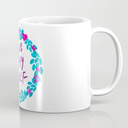 Tropical Watercolour Love Thy Self Coffee Mug