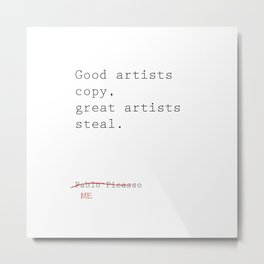 STEALING Metal Print