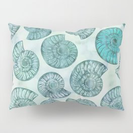 Shimmering Underwater Shell Scenery Aqua Colors Pillow Sham