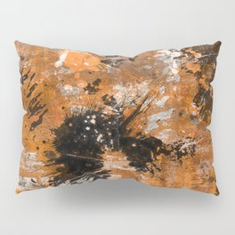 Rusting Darkness - Abstract in gold, black and white Pillow Sham