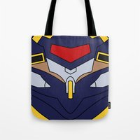 evangelion Tote Bags featuring Evangelion Mark.06 by Bunny Frost