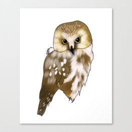 Woodland Creatures Series: Owl Canvas Print