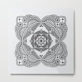 elegant meditation mandala Metal Print