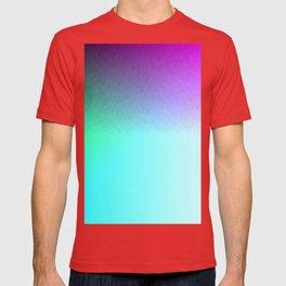 Six Color Ombre Cyan, Purple, Green, Pink, Purple, Blue, Spectrum Flame T-shirt