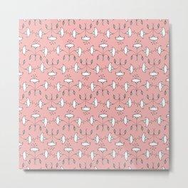 Flowers Pattern II - Botticelli Metal Print
