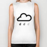 cloud Biker Tanks featuring Cloud :) by Etiquette