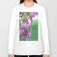 poem Long Sleeve T-shirts featuring Mother's Day Poem  by Frankie Cat