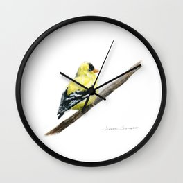 """Little Goldie"" painting by Teresa Thompson Wall Clock"