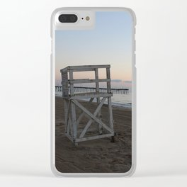 Lifeguard Chair at Sunrise Clear iPhone Case