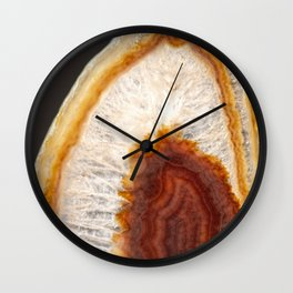 Dyed cracked clear quartz crystal Wall Clock