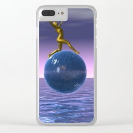 look up to the stars Clear iPhone Case