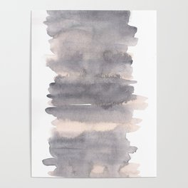 150129 Neutral Cool Abstract 26 Poster
