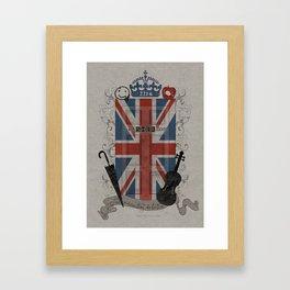 Sherlock Holmes inspired crest Framed Art Print
