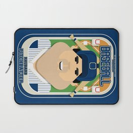 Baseball Blue Pinstripes - Rhubarb Pitchbatter - Victor version Laptop Sleeve