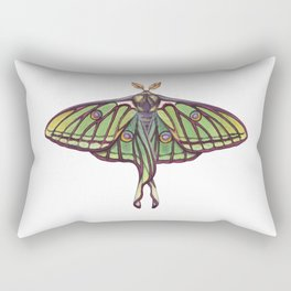 Spanish Moon Moth (Graellsia isabellae) Rectangular Pillow