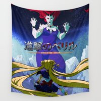 attack on titan Wall Tapestries featuring Attack on Beryl by TwinEnigmaDesign