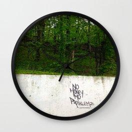 No Money, More Problems Wall Clock