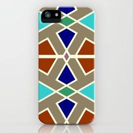 Islamic Moroccan Andalousie geometric wallpaper iPhone Case