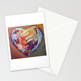 Heart shaped paper weight Stationery Cards
