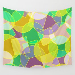 Colorful abstract geometric pattern Wall Tapestry
