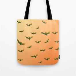 Bats (orange bg) Tote Bag
