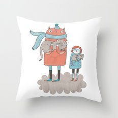 Our Cats Throw Pillow