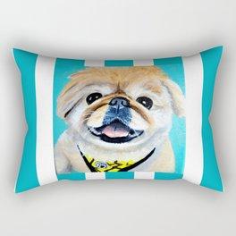 Peke Fred Yellow Rectangular Pillow