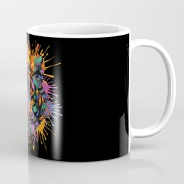 Tiger Face Color Splashes Coffee Mug
